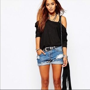 One teaspoon distressed Chargers Shorts. 24